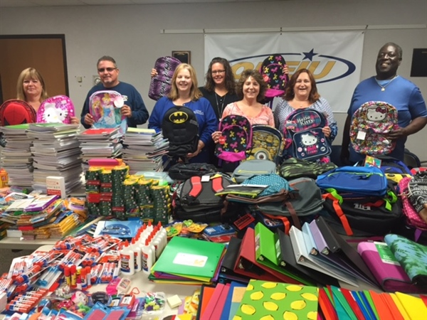 Local 459 Nurses Council Backpack Drive